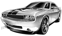 2010 dodge challenger clipart front 3/4 view