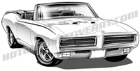 1969 Pontiac GTO Judge convertible, front 3/4 view