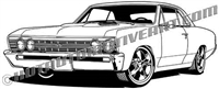 1967 Chevrolet Chevelle - side 3/4 view restomod