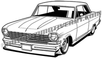 1963 Chevy II - 3/4 view