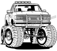 1996 ford f-150 off road truck clip art