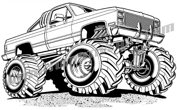 royalty free clip art chevy 4x4 truck