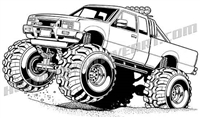 lifted 4x4 pickup truck clip art
