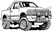 2002 ford f-150 4x4 truck - 3/4 view