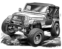 jeep cj 4x4 rock climber - 3/4 view