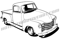 48 chevy pickup truck - 3/4 view