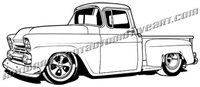 1958 chevy pickup - left side view