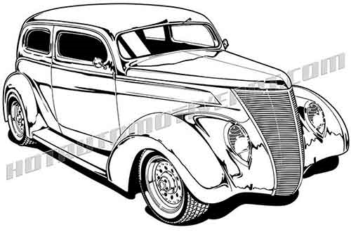 1937 ford hot rod clipart  buy two images  get one image free