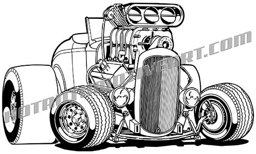 1932 ford cartoon clip art  buy two images  get one image free