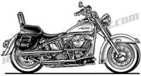 harley softail motorcycle side view