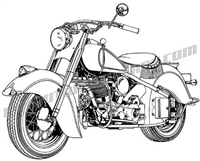 48 indian chief motorcycle 3/4 view
