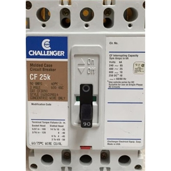 Challenger CF3125 Circuit Breaker Refurbished