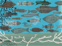 """Green Sea Fish"", Sarajo Frieden Giclee Print"