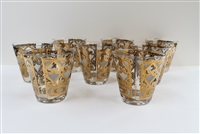 George Briard Rocks Glasses, S/8 Signed Gold Pattern