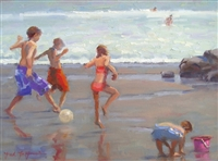 """World Cup Fever"", Frank LaLumia Oil Painting"