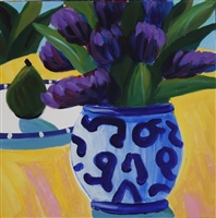 """Symbols of Gigi I"", Contemporary Still Life by Patty Evert"