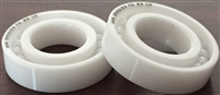 "R24 ZRO2 T9 LD, 1 1/2""x2 5/8""x7/16"" inch, (1.5000x2.6250x0.4375 in), ABEC357,  Full Ceramic, Zirconia ZrO2 Inner/Outer/Balls, PTFE Retainer, Open, Lube Dry, ABEC #1."