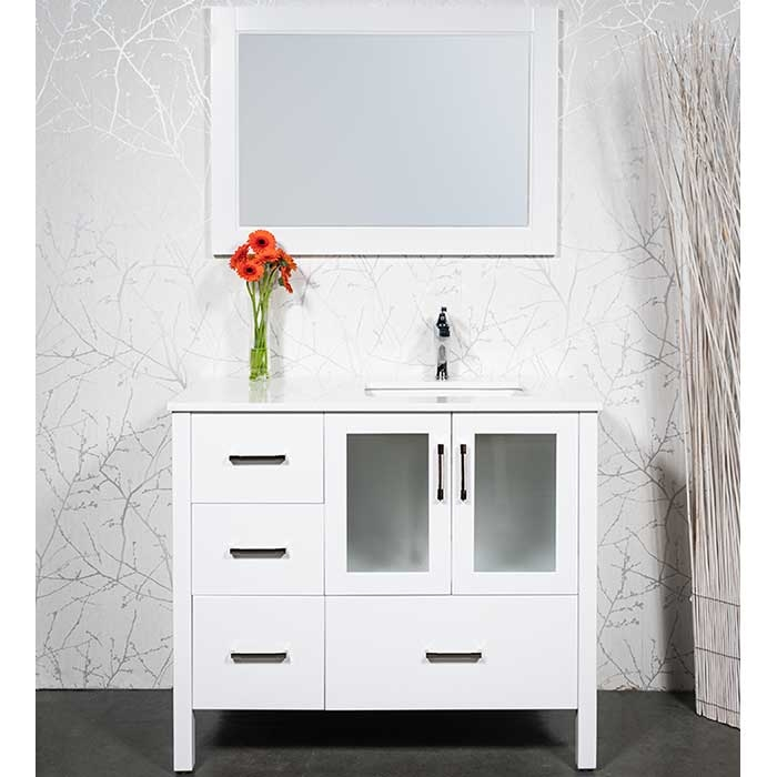 Modern 41 Inch Bathroom Vanity With Undermount Sink And