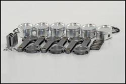 24v VR6 JE Pistons / IE Rods Combo- 81.5mm Bore, 11.2:1 CR