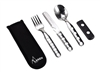 Stainless Steel Cutlery Set 3 pcs. with Neoprene Cover