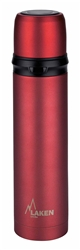 Laken Thermo Flask Vacuum Insulated Stainless Steel 34oz Red