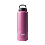 Classic Water Bottle Wide Mouth Screw Cap with Loop 25oz, Pink