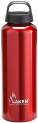 Classic Water Bottle Wide Mouth Screw Cap with Loop 25oz Red