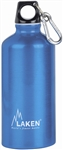 Futura Water Bottle Narrow Mouth Screw Cap with Loop and Carabiner 20oz Blue