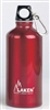 Futura Water Bottle Narrow Mouth Screw Cap with Loop and Carabiner 20oz Red