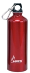 Futura Water Bottle Narrow Mouth Screw Cap with Loop and Carabiner 25oz Red