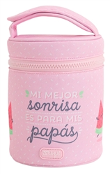 34 oz Vacuum Insulated Food Jar + Carrying Pouch + 2 PP Containers, Mr. Wonderful