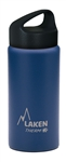 Laken Classic Thermo Vacuum Insulated Stainless Steel Water Bottle Wide Mouth with Loop Cap 17oz - Blue