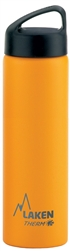 Laken Classic Thermo Vacuum Insulated Stainless Steel Water Bottle Wide Mouth with Loop Cap 25oz - Yellow