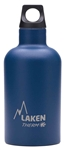 Laken Futura Thermo Vacuum Insulated Stainless Steel Water Bottle Narrow Mouth with Loop Cap 12oz Blue