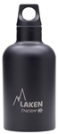 Laken Futura Thermo Vacuum Insulated Stainless Steel Water Bottle Narrow Mouth with Loop Cap 12oz Black