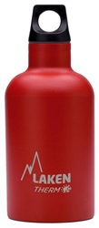 Laken Futura Thermo Vacuum Insulated Stainless Steel Water Bottle Narrow Mouth with Loop Cap 12oz Red