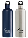 Laken Bundle - Two 17 oz Thermo Futura Insulated Stainless Steel Bottles, Blue + Plain
