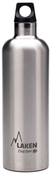 Laken Futura Thermo Vacuum Insulated Stainless Steel Water Bottle Narrow Mouth with Loop Cap 25oz Plain