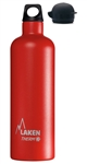 Thermo Insulated Stainless Steel Water Bottle, Narrow Mouth Bottle with a Screw Cap, Plus a Sport Cap, 25oz