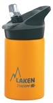 Laken Thermo Jannu Vacuum Insulated Stainless Steel Water Bottle Wide Mouth with Straw Cap 12oz Yellow