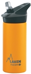 Laken Thermo Jannu Vacuum Insulated Stainless Steel Water Bottle Wide Mouth with Straw Cap 17oz Yellow