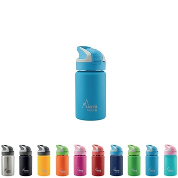 Laken Thermo Summit Stainless Steel Insulated Water Bottle, Sport Straw Cap w/Lock, Leakproof, 12 oz