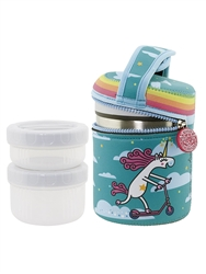 34 oz Insulated Food Jar + Neoprene Cover + 2 PP Containers, Katuki Saguyaki