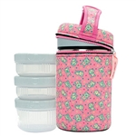 50 oz Insulated Food Jar + Neoprene Cover + 3 PP Containers, Katuki Saguyaki