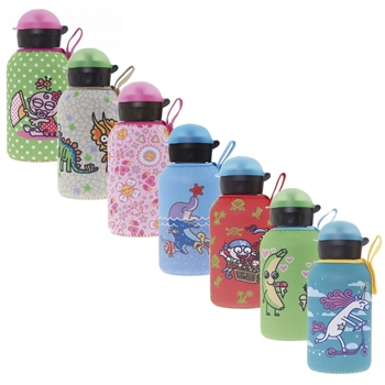 Laken Thermo Hit Kids Insulated Water Bottle 12oz Sport Cap with Neoprene Cover - Katuki Saguyaki
