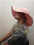 Abby Pink Paper Straw Hat