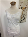 Lace Cami Slip Top White