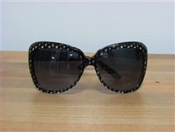 Pattern Play Oversized Fashion Sunglasses Black