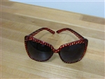 Pattern Play Oversized Fashion Sunglasses Red