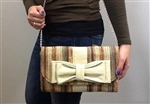 Leila Straw Clutch Multi Color